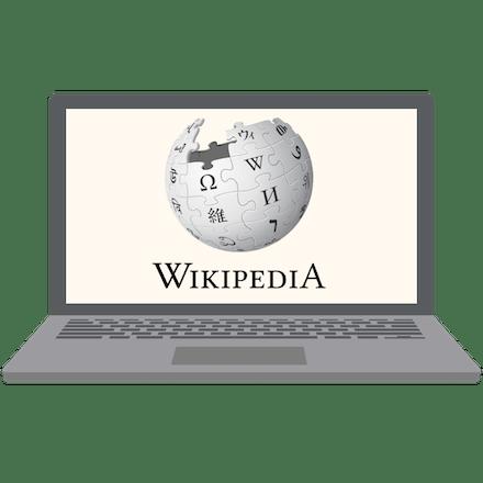 Wikipedia unblocked on a laptop.