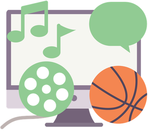 동영상, 음악, 스포츠 및 소셜 미디어 차단 해제