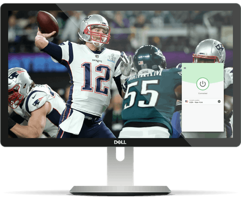 NFL game on a desktop with ExpressVPN.