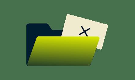 Abra o arquivo verde e um papel com uma cruz nele.