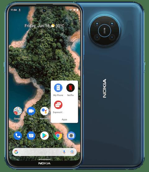 ExpressVPN app showing on Nokia XR20 smartphone home screen.