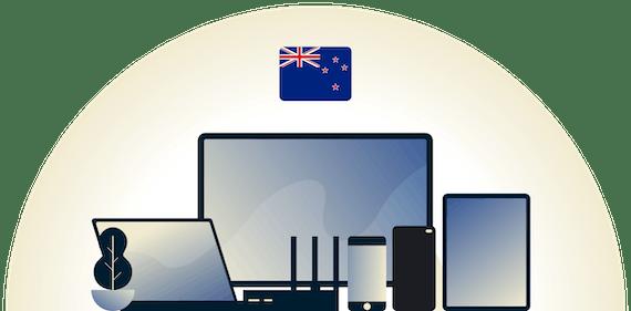 VPN pour la Nouvelle-Zélande protégeant une variété d'appareils.