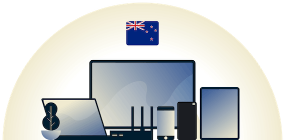 New Zealand VPN protecting a variety of devices.