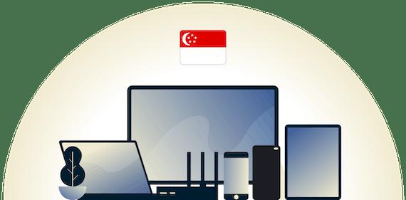 Singapore VPN, der beskytter en række enheder.