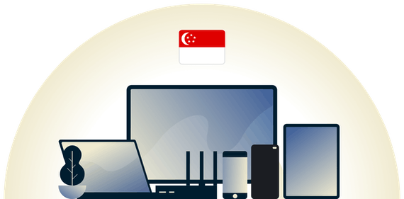 Singapore VPN protecting a variety of devices.