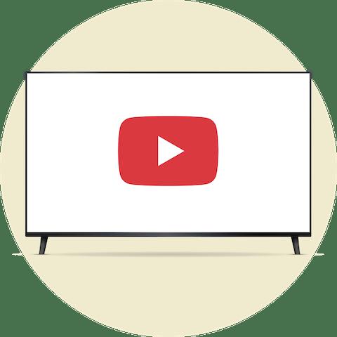 Logo YouTube TV sur un écran