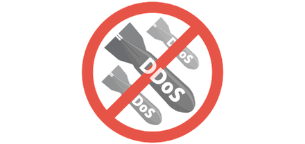 """Simbolo """"NO DDOS""""."""