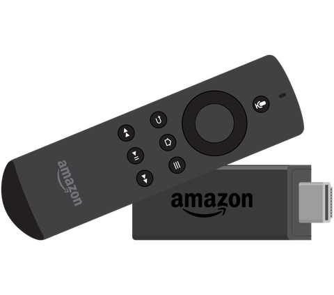 Amazon Fire Stick og fjernkontroll