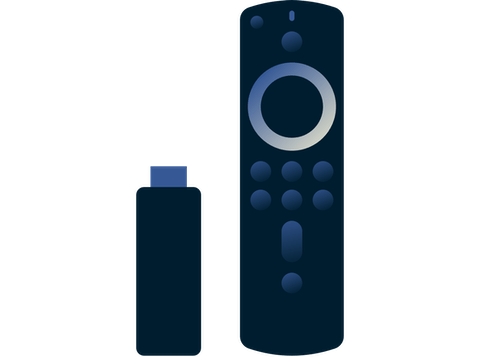 Amazon Fire Stick og remote