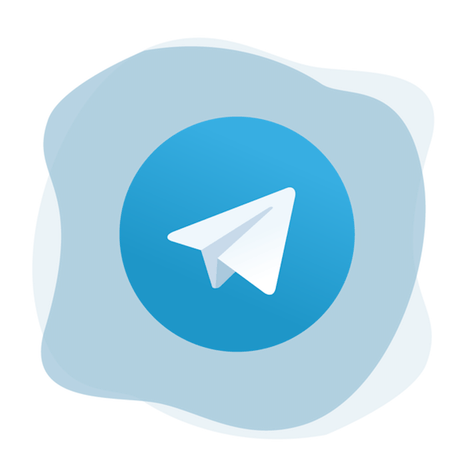 Telegram logo hero image.