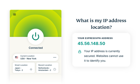 How IP checker works with ExpressVPN.