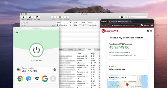 With ExpressVPN, your true IP address is hidden from other users on uTorrent.