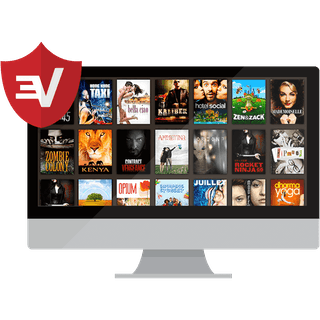 Sling content on a desktop with the ExpressVPN shield.