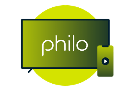 Television and smartphone with Philo logo.