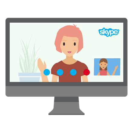 Video chat with a VPN.