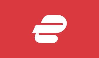 Preview: Logo ExpressVPN Icon White On Red