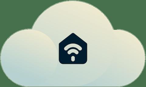 Internet der Dinge Geräte und Einrichtungen, die mit einer Cloud verbunden sind.