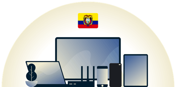 Ecuador VPN protecting a variety of devices.