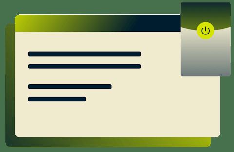 Interfejs rozszerzenia ExpressVPN dla przeglądarki Microsoft Edge.