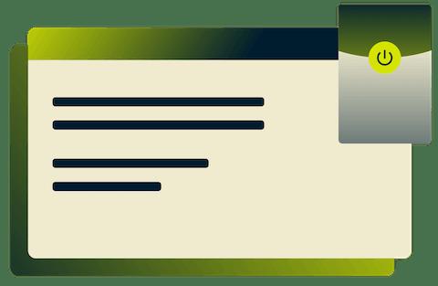 Oberfläche der ExpressVPN-Browsererweiterung für Microsoft Edge.