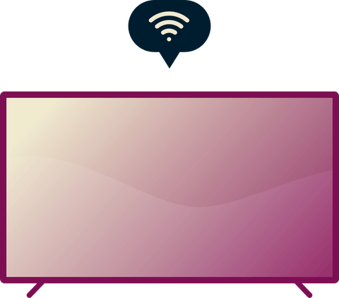 Smart-TVs sind internetfähige Fernseher.