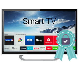 Smart TV with ribbon.