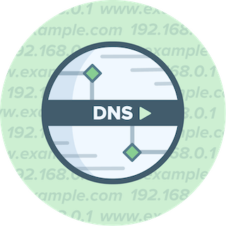 Circular DNS logo on green background