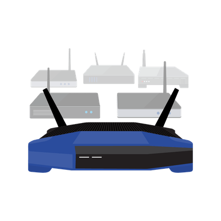 A group of many VPN routers