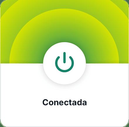 Instale a VPN, etapa . Aplicativo conectado.