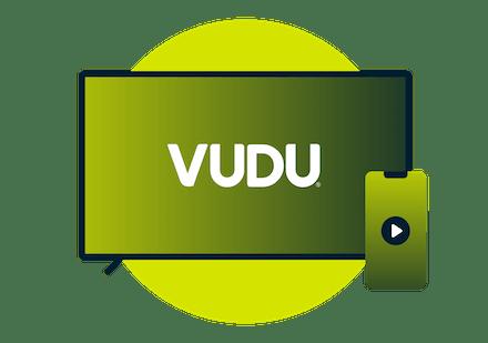 Una pantalla que muestra filas de películas en Vudu.