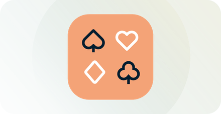 Online poker på en bærbar computer.