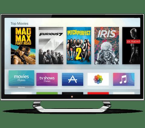 Apple TV waarop een VPN is geïnstalleerd