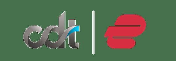 CDT and ExpressVPN logos.