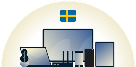 Sweden VPN protecting a variety of devices.
