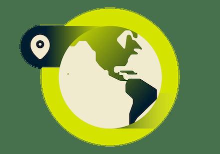 Localisations VPN en Amérique du Nord et Amérique Latine.