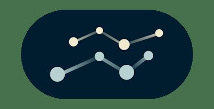 Line chart graph.