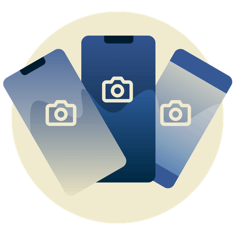 Instagram logo on mobile devices.