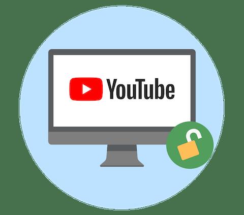 Desbloqueie o YouTube com uma VPN.