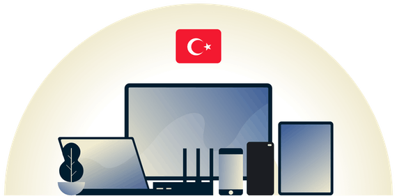 Turkey VPN protecting a variety of devices.