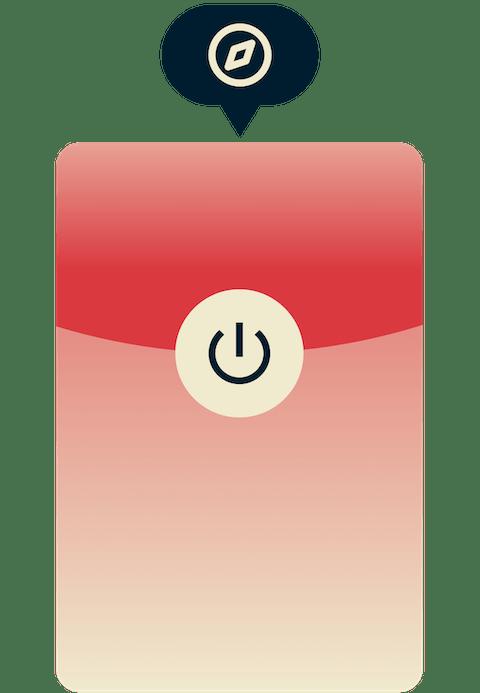 Para usar ExpressVPN no Safari, basta clicar no botão na barra de ferramentas.