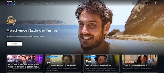 Canale streaming italiano Mediaset Infinity