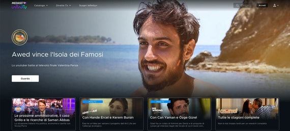 Mediaset Infinity Italian streaming channel