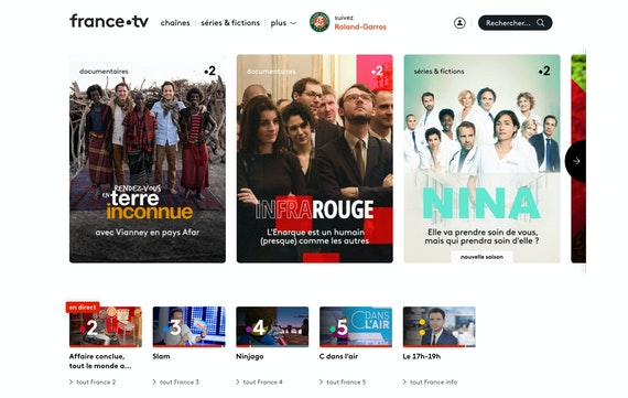 France TV on a desktop screen.
