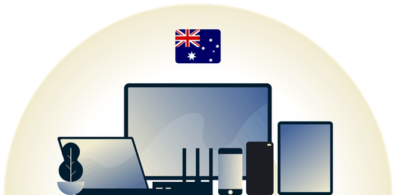 Australia VPN protecting a variety of devices.