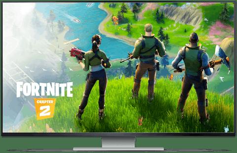 Geforce now skærm med Fortnite