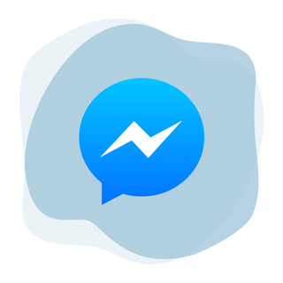 Facebook Messenger logo in circle.