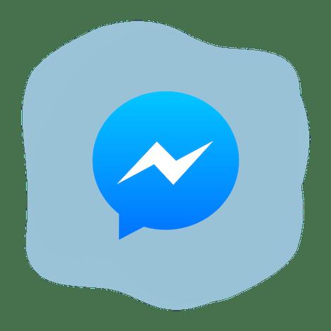 Facebook Messengerin logo ympyrän sisällä.