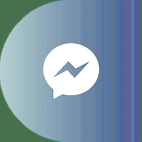 Logotipo de Facebook Messenger en un círculo.