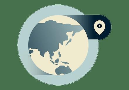 Korzystaj z VPN w dowolnym miejscu na świecie, w tym w Azji.