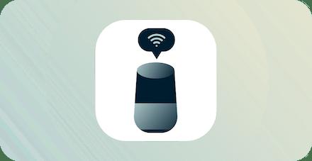 Smart enhet med wifi-ikon ovanför.